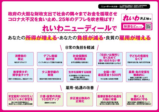 【縮小版】れいわ新選組 チラシ(71号)